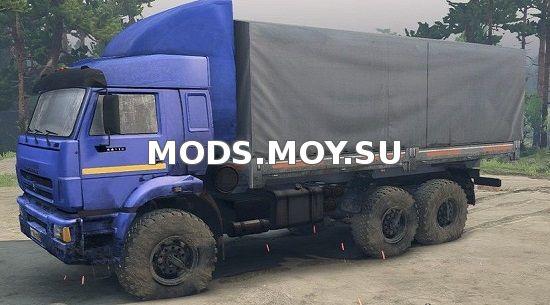 Mod Камаз 65221 Spin Tires Вконтакте - картинка 1